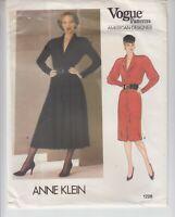 VOGUE 1228 Dress Loose Fit Skirt Variation Anne Klein Sewing Pattern 12 Uncut