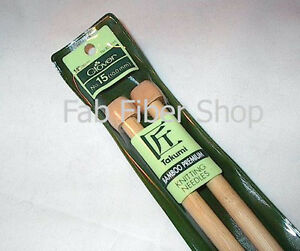 "Clover Takumi Premium Bamboo Single Point Knitting Needles 14"" US size #15 10mm"