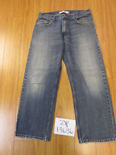 levi 569 loose straight feathered grunge jean tag 34x30 meas 33x29 zip13636