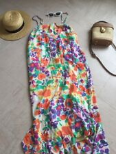 No Label Asos Sample Summer Floral Bright Tall Maxi Dress 12 Multicolour Tiered