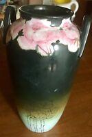 Rare Antique Signed DAVIS Painted 1910 Arts Nouveau Pottery Vase Urn Folk Studio