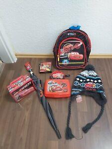 Cars Paket, Rucksack, Schirm, Brotdose, Mütze, Koffer, Spiel, Portemonnaie- CARS