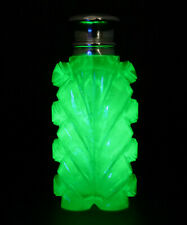More details for c1880, sampson mordan, antique 19thc uranium glass silver perfume scent bottle