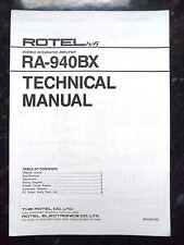 Rotel tecnico (servizio) manuale per ra-940bx STEREO AMPLIFICATORE INTEGRATO