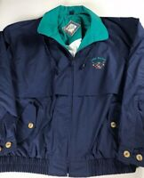 Lake Burton Jacket VTG Mens XL Long Sleeve Georgia Fishing Lined Vented Coat