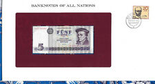 *Banknotes of All Nations GDR East Germany 1975 5 Mark UNC P 27a IH018049 Low*