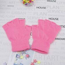 10color Women Men Winter Fingerless Half Fingers Warm Knit Magic Gloves Mittens