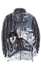 Gray Wolf Jacket Size Medium new Machine Washable deluxe Sale Reg $90.00
