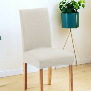 Modern Stretch Non-slip Chair Cover Spandex Jacquard Dining Seat Case Supplies