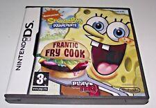 Spongebob Squarepants Frantic Fry Cook DS 2DS 3DS Game *Complete*
