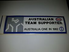 Vintage Sticker - ESSO - PROUD SUPPORTER OF AUSTRALIA -AUSTRALIA ONE IN 1982 VGC