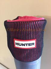 New! HUNTER Adult Tall Fleece Boot Liner Socks Rib Plaited Knit Cuff Welly Rain
