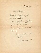 Louis-Ferdinand CELINE  Lettre autographe signée au maire de Bezons. 1940
