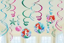 THE LITTLE MERMAID Swirl Decorations Birthday Party Kids Disney Supplies