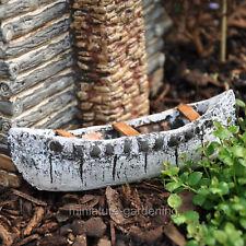Birch Bark Canoe for Miniature Garden, Fairy Garden
