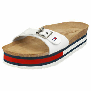 Tommy Jeans Flag Outsole Womens White Mule Sandals - 9 US
