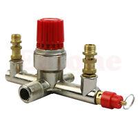 Zinc Alloy Double Outlet Tube Air Compressor Pressure Regulator Valve Fit Part