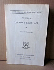 DAVIS-BACON ACT beat-up book US federal law Labor Relations 1975 research