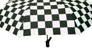 Vans Umbrella Black/White Checkerboard Compact/Folding Vans Family Exclusive