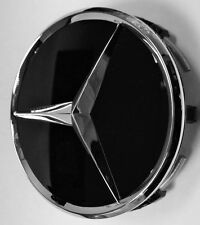 1x MERCEDES BENZ ALLOY WHEEL CENTRE CENTER CAP BLACK 75MM A B C E S ML S Class