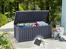 570 L Gartenbox Jumbo XXL Auflagenbox Kissenbox Sitztruhe Gartentruhe Gartenbank