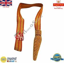 British Infantry Officers Gold/Red Sword Knot/WWI WWII British Army Sword Knot
