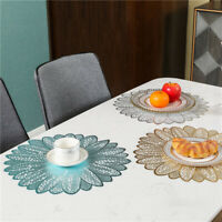 Dining Table Cup Mat Round Hollow Heat-insulated Pad Non-Slip Mat Placemat Decor