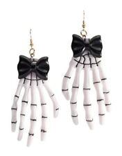 Ladies Skeleton Day of the Dead Halloween Fancy Dress Earrings Accessory