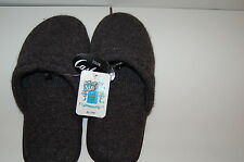 NEW PORTOLANO M/L CHARCOAL/GREY 100%CASHMERE SLIPPERS SUEDE SOLES  BNWT $215