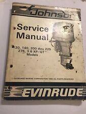 JOHNSON EVINRUDE 120 140 200 225 275 300 XP GT LOOP V OUTBOARD ENGINE MANUAL '86