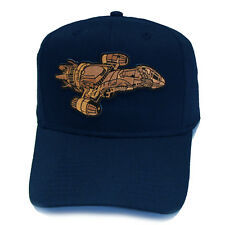 SERENITY FIREFLY SHIP Die-cut Sci Fi Patch Adjustable Snapback Navy Cap Hat