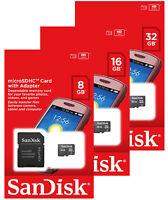 SanDisk 8GB 16GB 32GB Micro SD HC Class 4 TF Flash SDHC Memory Card microSD
