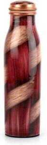 Copper Water Bottle Drinkware 1000 ml Weaves Pattern