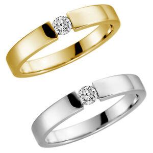 14 Karat 585 Gelbgold Weißgold Spannring Ehering Verlobungsring Antragsring NEU