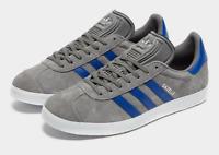 Grey Blue White Mens Trainers Adidas Gazelle Premium Suede Shoes Size 6-13 UK