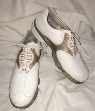 Footjoy Dryjoy Womens White Pink Leather Golf Shoes Sz 10 M 99115