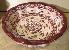 "Tara Temp-tations Old World Cranberry 9"" Scalloped Deep-Dish Casserole Pie Plate"