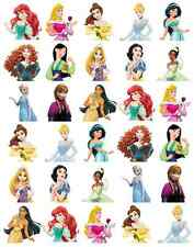 30x Disney Princess Half Body Cupcake Toppers Edible Wafer Paper Fairy Cakes
