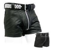 Awanstar-538 ledershorts mit Heckreißverschluss/Gay Lederhose,Leather shorts 32W