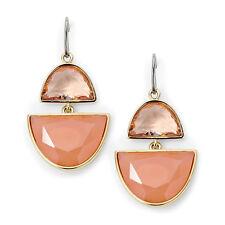 Fossil Jewelry Double Drop Opulent Gold Orange Earrings #260