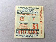 Willie Mays HR #659 Home Run August 3 1973 8/3/73 Mets Cardinals Ticket Stub