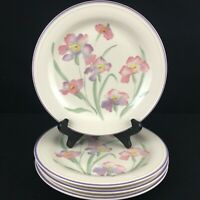 Set of 4 VTG Salad Plates by Sango Windsor Sangostone Pink Floral 3647 Korea