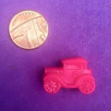 20 X Novedad Rosa Coche/transporte granos de poni, Llaveros, clip ficticio, favores