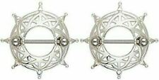 Jewelry Pair 14 gauge sold as pair Body Accentz® Nipple Ring Bars Gladiator Body