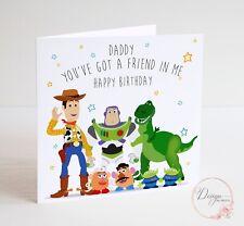 TOY STORY Birthday Card - Daddy - Woody Buzz Lightyear