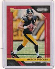 MASON RUDOLPH 2018 Panini Prizm RED Wave Rookie Card RC /149 Pittsburgh Steelers