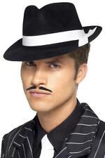 Al Capone Black Hat Mens Fancy Dress 1920s Adults Gangster 20s Costume Accessory