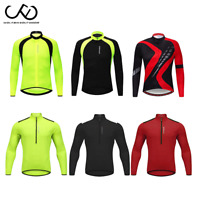 Men's Team Cycling Jersey Long Sleeve MTB Bike Clothing Cycle Shirt Bicycle Tops