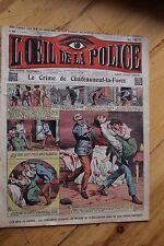 Rarissime L' OEIL DE LA POLICE 1A/40 Le Crime de Chateauneuf La Forêt
