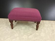 Footstool upholstered in a Laura Ashley fabric dalton berry